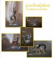 Kristallfiguren mit Goldauflage