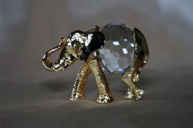 Foto 3 Kristallfiguren mit Goldauflage