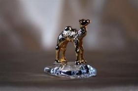 Foto 5 Kristallfiguren mit Goldauflage