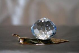 Foto 10 Kristallfiguren mit Goldauflage