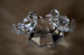 Foto 16 Kristallfiguren mit Goldauflage