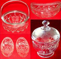 Kristallglas 4tlg. 2 Schalen + 2 Zuckerdosen