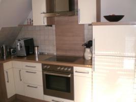 Foto 4 Küche Hochglanz Jasmin, Nuss-Nachbildung Nougat - TOP Zustand