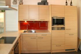Foto 2 Küche neu, ewe, ahorn classic, stand in einer Ausstellung ca. 3,2 x 2,2 m