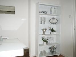 Küchen- Esszimmerregal, Echtholz, weiss gewischt,180x84x30cm