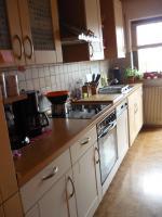 Küchenzeile Buche/Vanilleoptik