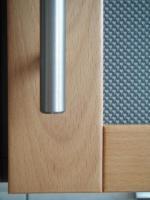 Foto 5 Küchenzeile inkl. Einbaugeräte und Tresen, rotbuche/anthrazit