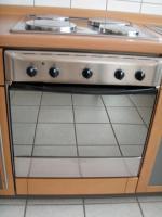 Foto 7 Küchenzeile inkl. Einbaugeräte und Tresen, rotbuche/anthrazit