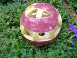 Kugel  brombeer gelb Dekokugel Garten Terrasse Balkon Geschenk