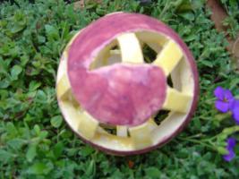 Foto 2 Kugel  brombeer gelb Dekokugel Garten Terrasse Balkon Geschenk