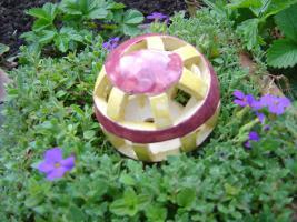 Foto 3 Kugel  brombeer gelb Dekokugel Garten Terrasse Balkon Geschenk