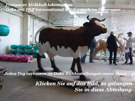 Kuh +K�lbchen lebensgross als Deko f�r Ihren Garten Tel. 033767 30750