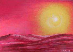 Kunst, Wüstensonne von Irmela Pinkwart