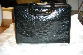 Kunstledertasche schwarz