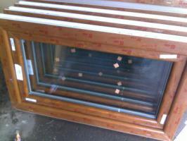kunststofffenster kunststoff fenster innen weiss und aussendekor eiche gold kbe 100 x 60 in. Black Bedroom Furniture Sets. Home Design Ideas