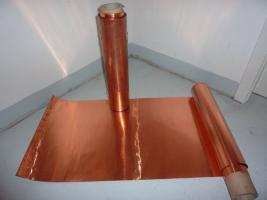 Kupferfolie / -blech von der Rolle