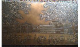 Foto 2 Kupferreliefbild mit Berlinmotiv, Unter Den Linden, Liefer. mögl.