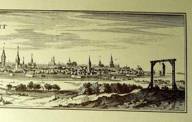 Foto 3 Kupferstich alt Gent 60x21 (B002)