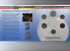 Kursmünzen 1Pf bis 1Mark Kaiserreich und BRD im Blister