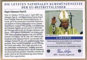 Kursmünzensatz Polen incl. Gedenkmünze Papst ! ! !