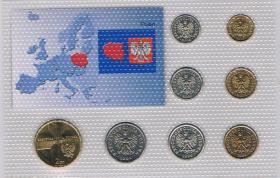 Foto 4 Kursmünzensatz Polen incl. Gedenkmünze Papst ! ! !