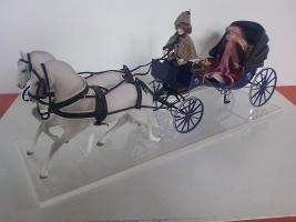 Kutsche m. Pferdegespann