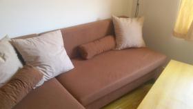 Foto 2 L-Couch braun mit Schlaffunktion