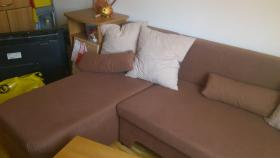 Foto 3 L-Couch braun mit Schlaffunktion