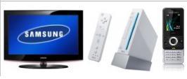 LCD-TV 32'' Samsung + Nintendo Wii + Vertrag Handy Sony Ericsson W205 mit Vertrag ab nur 0, - Euro!