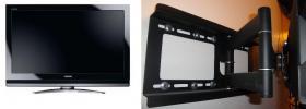 LCD TV 42 Zoll/ Full HD mit verstellbar Wandhalterung
