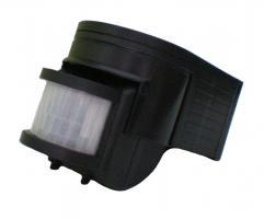 LED Bewegungsmelder IP44 schwarz (180 Grad, 12m, Relais)