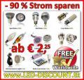 LED-Lampen ab € 2,25 – 90 % Strom sparen !