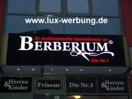 Foto 11 LED Schilder Leuchtschilder Leuchtkästen Leuchtbuchstaben Profilbuchstaben Acrylbuchstaben Metallbuchstaben mit LED Beleuchtung Berlin Außenwerbung