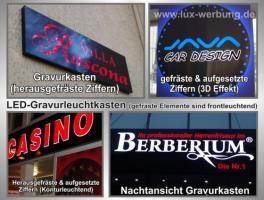 Foto 16 LED Schilder Leuchtschilder Leuchtkästen Leuchtbuchstaben Profilbuchstaben Acrylbuchstaben Metallbuchstaben mit LED Beleuchtung Berlin Außenwerbung
