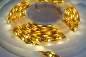 Foto 4 LED Strips 120 LED/m RGB Komplettset -Netzteil & Dimmer