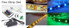 Foto 4 LED Strips 30 LED/m RGB Komplettset 5m inkl.Netzteil &  Kontroller