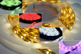 Foto 3 LED Strips 60 LED/m RGB Komplettset 5meter Rolle