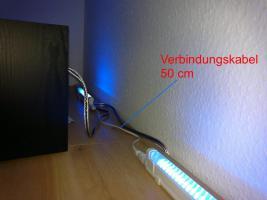 Foto 5 LED-Universal-Leiste blau mit Anschlusskabel