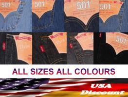 LEVIS 501 ORIGINAL JEANS BIG & TALL ÜBERGRÖSSEN ALLE FARBEN W32 - W60 / L30 -L38 – Neu aus den USA