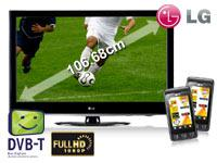 LG 42 Zoll (106,7 cm) LCD-TV 42LD420 +2x LG Cookie KP500 black +T-Mobile Relax 60 Duo mit Vertrag