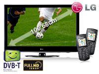LG 42 Zoll (106,7 cm) LCD-TV 42LD420 +2x Samsung E1170 schwarz mit Vertrag