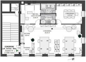 Foto 2 LOFTBÜRO in X-Berg: 4 AP in 8er Bürogem., voll möbl., 80m², Bergmannkiez, COWORKING ab sofort