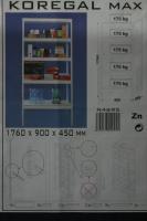 Foto 3 Lagerregal Steckregal Kellerregal Werkstattregal 175kg **NEUWARE** Preis: 55  EUR + Versand