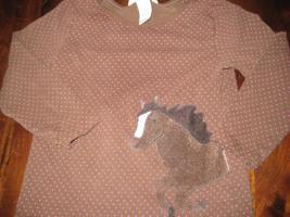 Langarmshirt mit Pferdemotiv H&M Gr.86/92