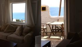 Foto 3 Langzeitmiete Mallorca: 80 qm Wohnung (Doppelhaus) im Ibiza Stil direkt am Meer in Cala Pi