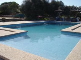 Foto 2 Langzeitmiete Mallorca: Einzigartige Pool Finca mit Olivenplantage auf einem 26 HA Grundstück in erhöhter Lage von Campos