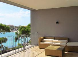 Langzeitmiete Mallorca: Luxus Meerblick Wohnung in erster Meereslinie von Colonia Sant Jordi mit traumhaftem Hafenblick