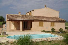 Langzeitmiete Mallorca: Naturstein Pool Finca zwischen Campos und Colonia Sant Jordi