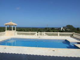 Langzeitmiete Mallorca: Porto Colom - 308 m² Pool Finca mit Gästehaus und Meerblick