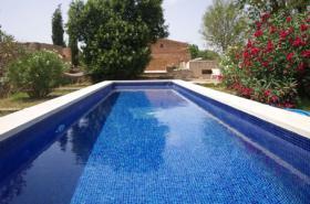 Langzeitmiete Mallorca: Romantische 285 qm Naturstein Pool Finca mit Apartment nahe Santanyi